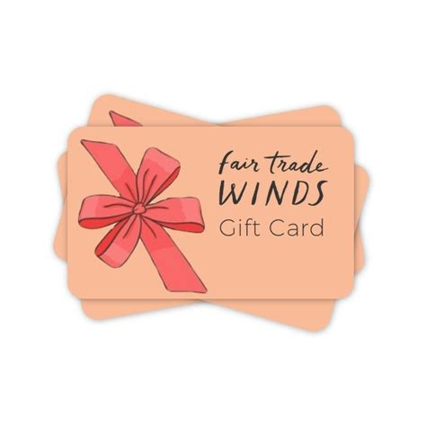 Trade Gift Card - fair trade gift ideas