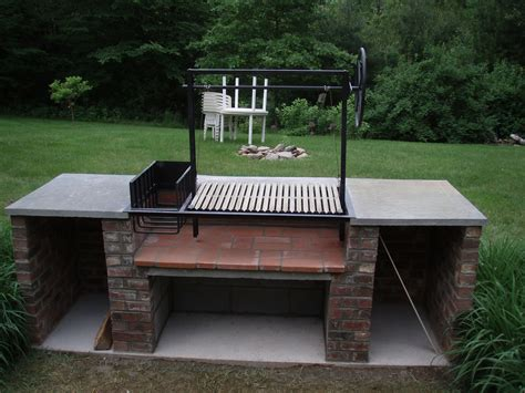 grilling porch argentine grill kit real garden diy pinterest
