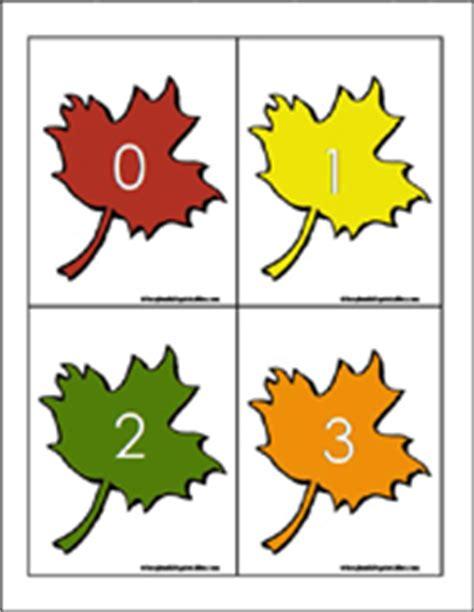 printable leaves with numbers preschool and kindergarten fall math worksheets