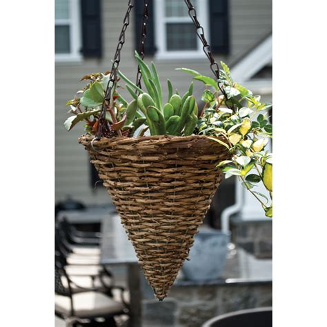 woodland 9 in hanging cone planter with chain pride