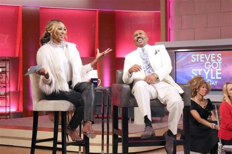 steve harvey show weave vendor in case you missed it cynthia bailey on the steve harvey