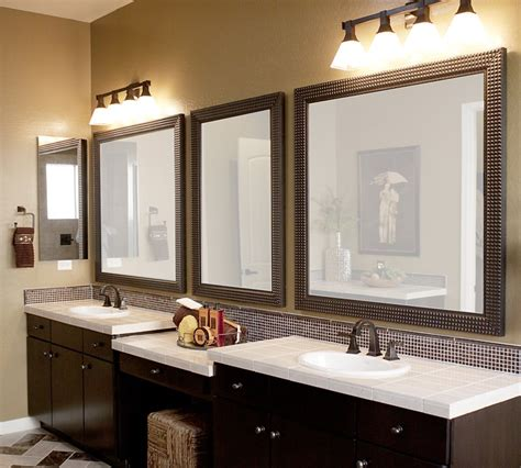 brown bathroom mirror furniture fashion12 framed bathroom mirrors designs and ideas