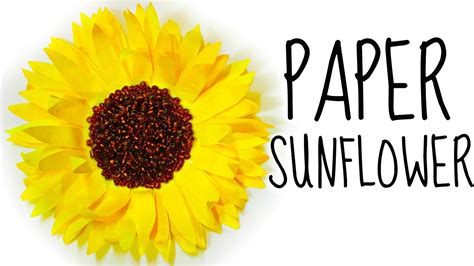 How To Make Sunflowers Out Of Paper - how to make a flower from coffee filters diy paper
