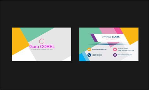 how to design identity card using coreldraw template id card keren format coreldraw guru corel