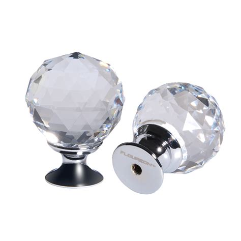 Glass Wardrobe Door Knobs 5x Clear Glass Door Knob Pulls 30mm Drawer Cabinet Cupboard Wardrobe Us Ebay