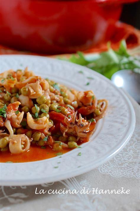 cucina seppie con piselli seppioline in umido con piselli e pomodoro ricetta