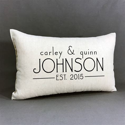 personalised wedding pillows personalized name and established pillow custom wedding or