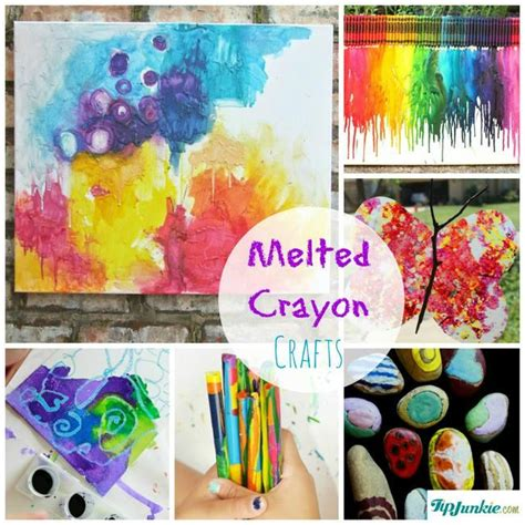 crayon crafts for 12 melted crayon crafts tip junkie