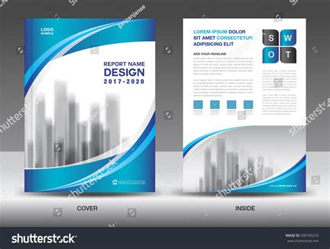 product catalog cover www pixshark com images brochure template layout blue cover design stock vector