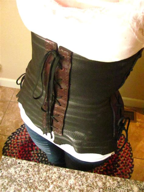Handmade Corset - handmade leather corset by chitsukixiii on deviantart