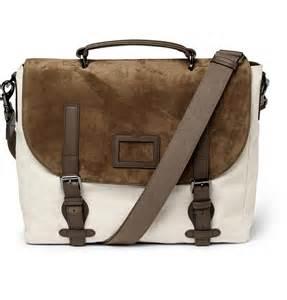 Messenger Bag Mulberry Men S Rockley Suede And Canvas Messenger Bag