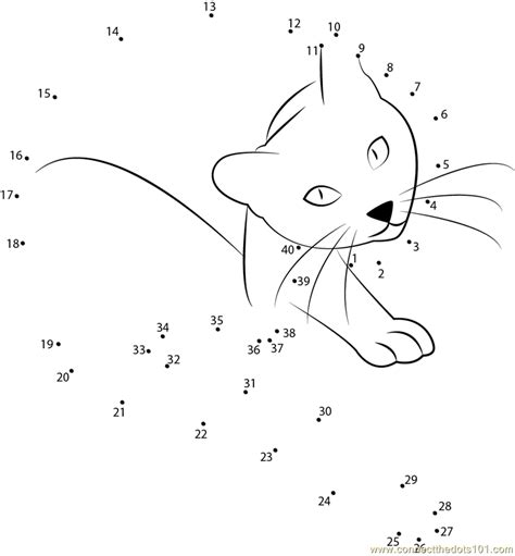 printable dot to dot cat cat in the gallery dot to dot printable worksheet