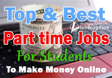 Make Money Online Jobs - top best part time jobs for students to make money online