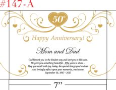 50th Wedding Anniversary Gifts Religious by Golden Wedding Anniversary Quotes And Messages