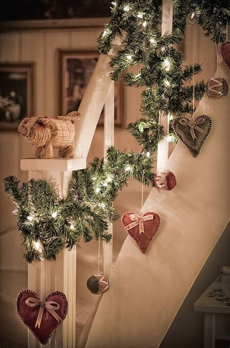 christmas lights for stair banisters 35 remarkable christmas staircase with banister ornaments decorazilla design blog