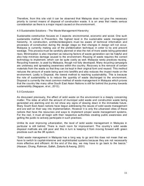 Waste Management Essay by Solid Waste Management Essay 1 Pdf