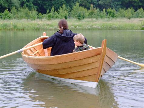 skiff boat rowing a double ended 15ft rowing boat built by adrian morgan