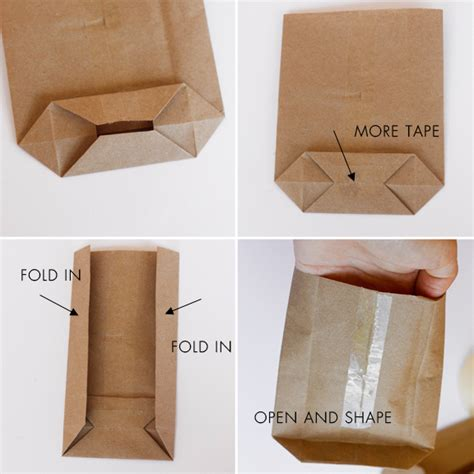 How To Fold Wrapping Paper Into A Bag - diy mini paper sacks from large paper sacks lavender