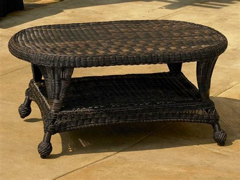 oval outdoor coffee table forever patio wicker 41 x 25 oval coffee table