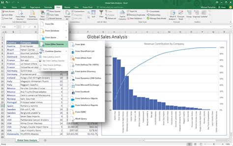 integrating power query technology in excel 2016 office