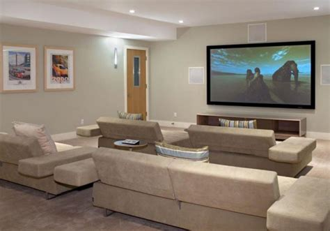 Living Room Theatres by A Modern Cool Living Room Theaters With Grey Sofa