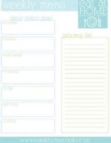Weekly Meal Planner And Shopping List Template 7 Best Images Of Free Printable Weekly Menu Planner With