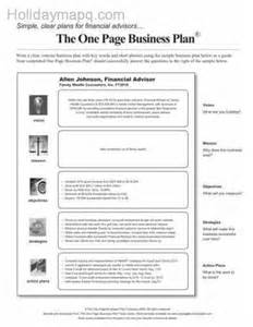 financial advisor business plan template business plan sle map travel holidaymapq