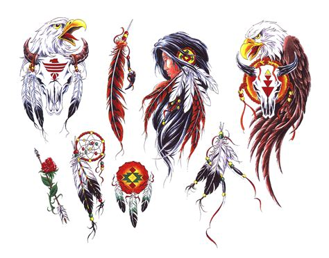 american indian tattoos designs abstract wolf indianerin studio design