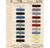 Auto Paint Codes  1965 Color El Camino Central