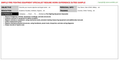 Equipment Specialist Cover Letter by Fighting Equipment Specialist Title Docs Descriptions And Duties