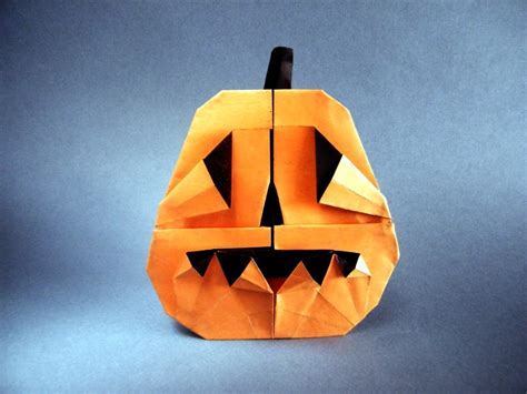 Origami Pumpkin - this week in origami 2015 edition