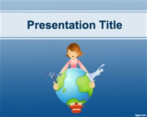 free travel powerpoint templates goals and objectives powerpoint template free