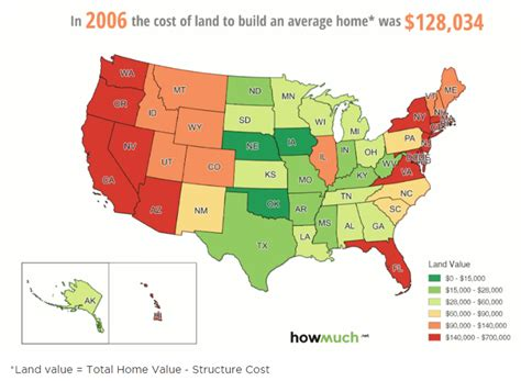 javascript get infobox in map to show up when clicking cost of land in the us in the past 40 years