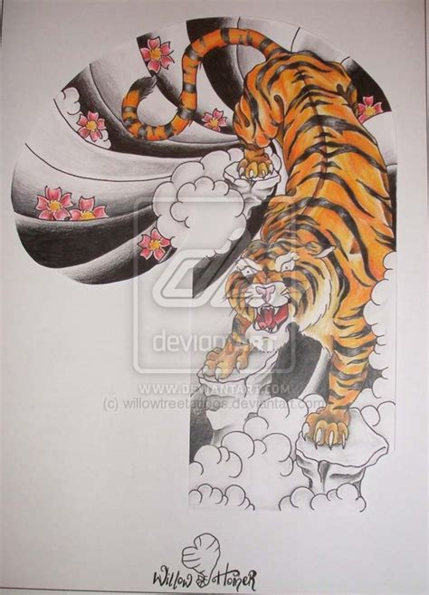 japanese style tiger tattoo designs japanese tiger