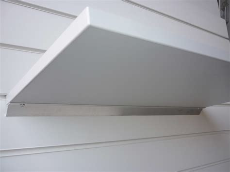 grey slatwall floating shelf 1200mm x 200mm wood shelves