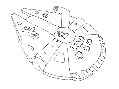 star wars millennium falcon coloring page free coloring pages of millenium falcon