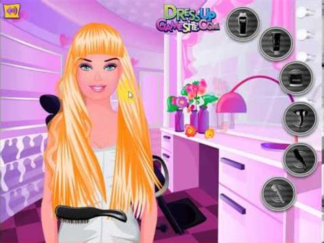 barbie hair cutting game barbie makeover game youtube dress up games makeover hair barbie emo hair game youtube
