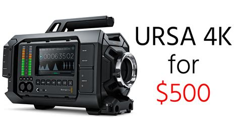 blackmagic ursa 4k updated deal alert blackmagic ursa 4k for just 500