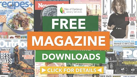 download free magazines from your library with zinio download your favourite magazines free shire of