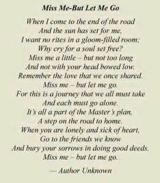 miss me but let me go i read this at my brother s funeral