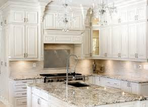 Kitchens With Antique White Cabinets by Antique White Kitchen Cabinets Improving Room Coziness