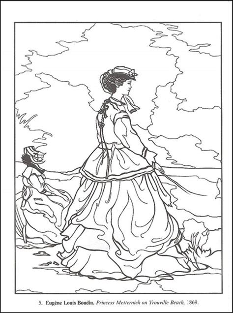 coloring pages of art masterpieces impressionist art masterpieces coloring book 029425