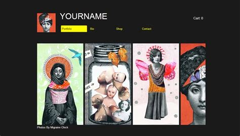 20 Beautiful Portfolio Website Templates For Artists Artist Web Template
