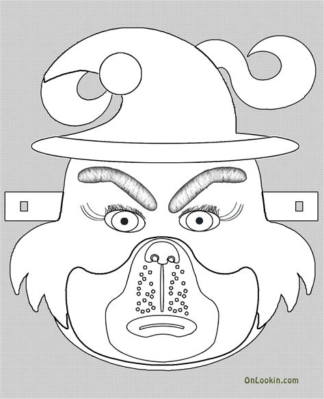grinch mask coloring page grinch mask template templates pinterest grinch