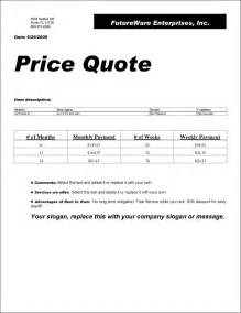price quotation cover letter