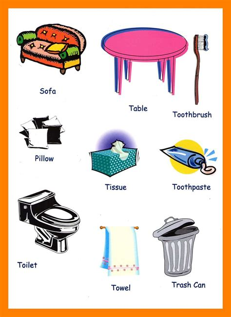 household items household items vocabulary for kids