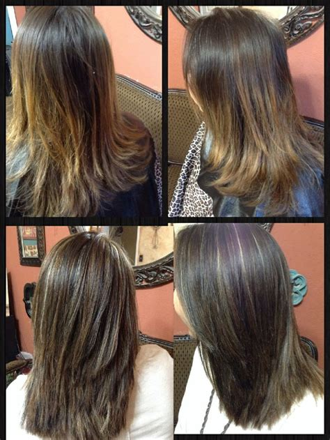7a hair color before and after tri color weave 5n 7a and thin panels