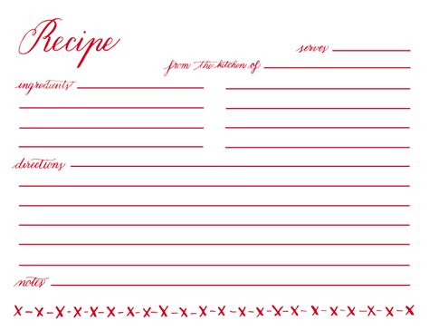 5 x 7 free recipe card template printable recipe cards 4x6 free newhairstylesformen2014
