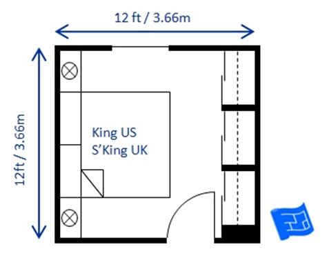 Master Bedroom Closet Measurements Small Bedroom Design For A King Size Bed Superking Uk