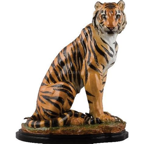 antique porcelain figurine table ls naturalistic porcelain sitting tiger figurine with bronze